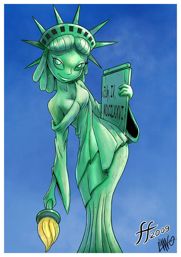 lady justice liberty of statue kissing Picture of high school dxd
